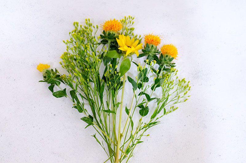 medeluから届いた花